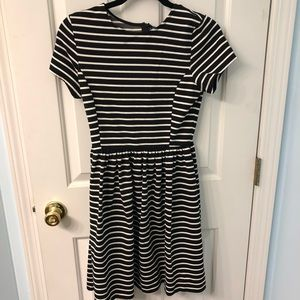 New Peter Som Black and White Striped Dress, Small